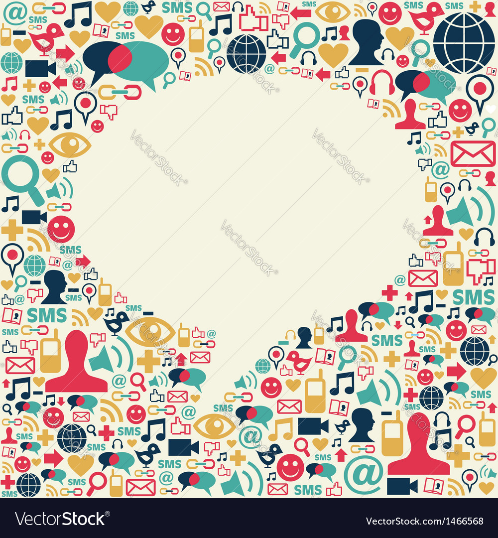 Social media talk bubble texture vector | Price: 1 Credit (USD $1)