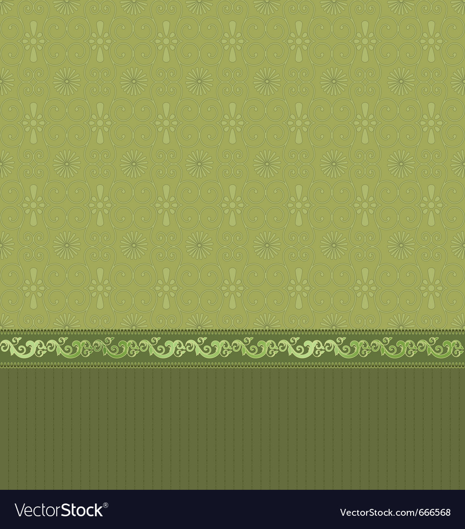 Vintage wallpaper with arabesques vector | Price: 1 Credit (USD $1)