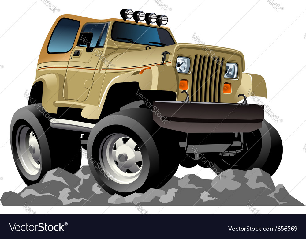 Cartoon jeep vector | Price: 3 Credit (USD $3)
