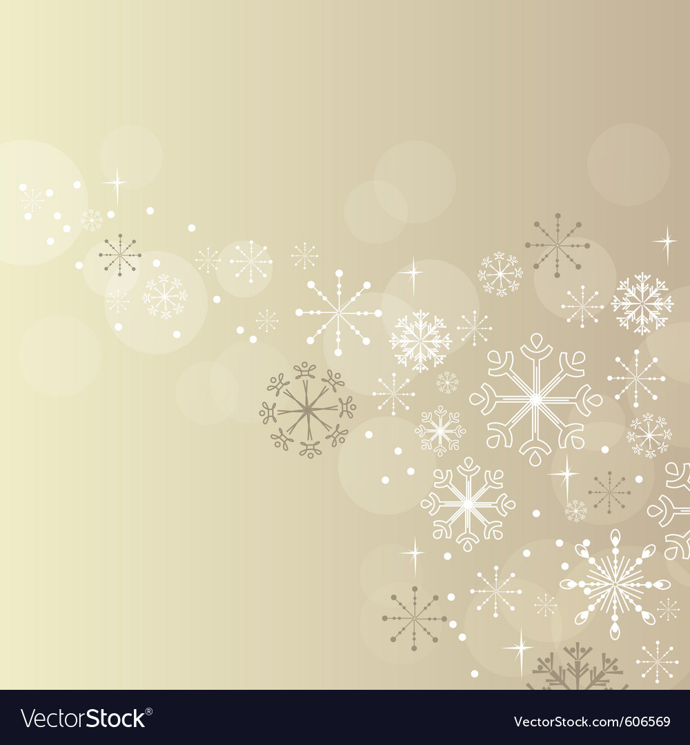 Christmas elegant beige background vector | Price: 1 Credit (USD $1)
