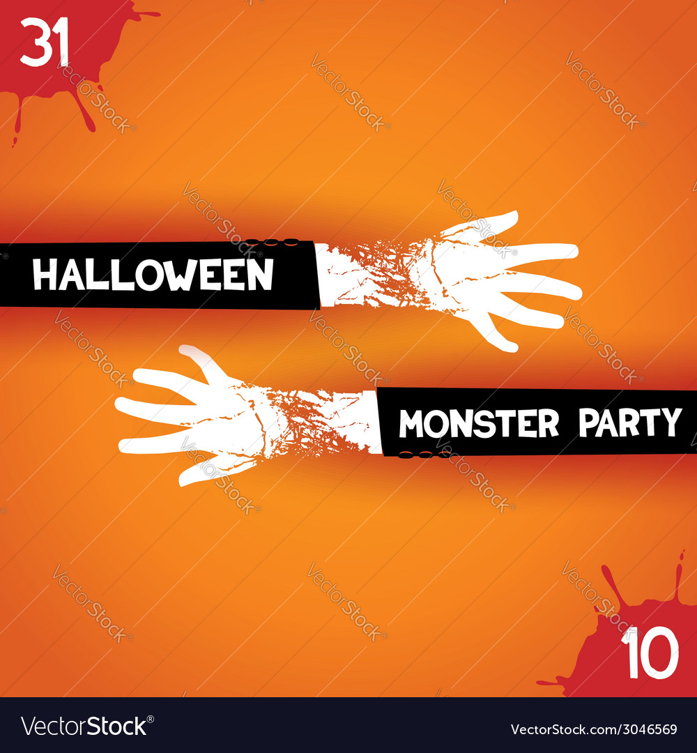 Creative poster for halloween party vector | Price: 1 Credit (USD $1)