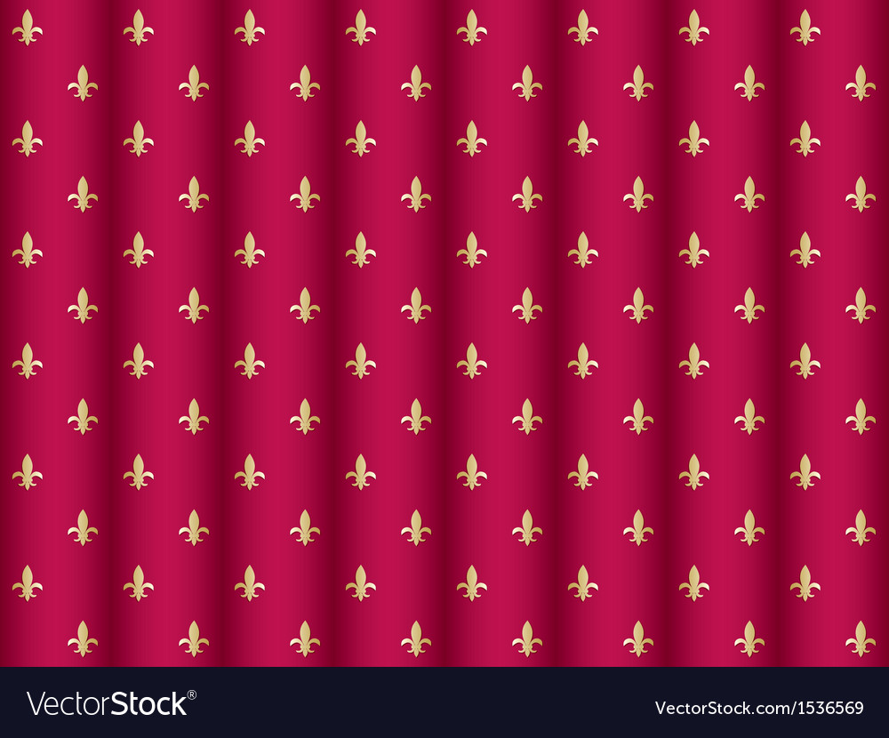 Curtain pattern with royal lilies vector | Price: 1 Credit (USD $1)