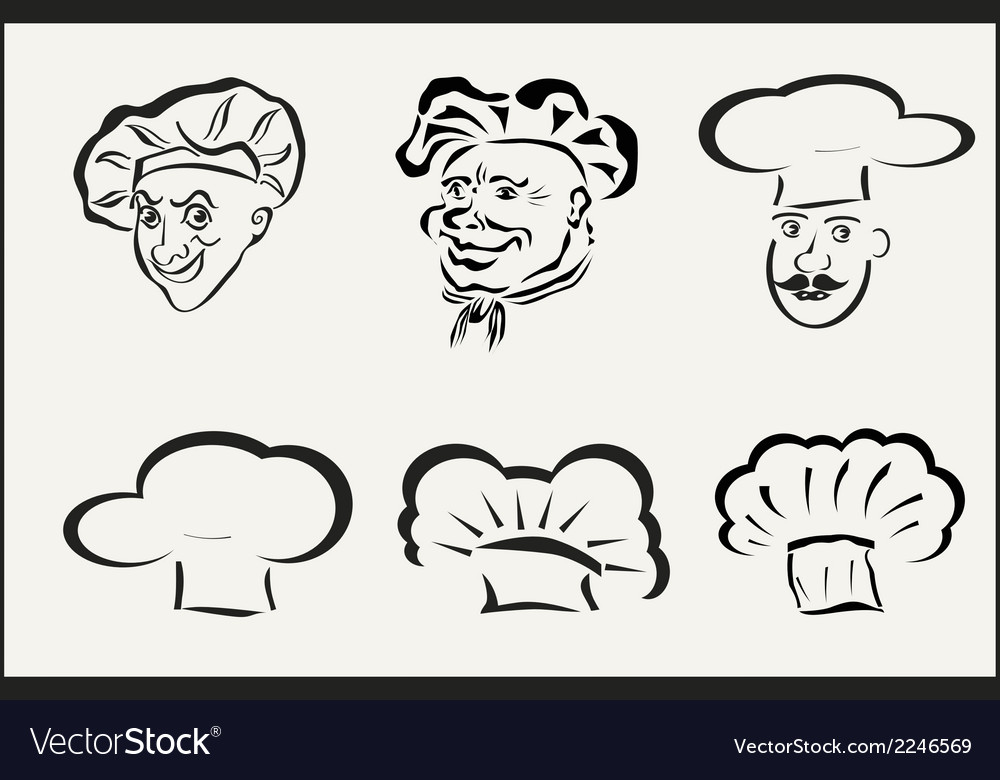 Icons chefs and hubcaps vector | Price: 1 Credit (USD $1)