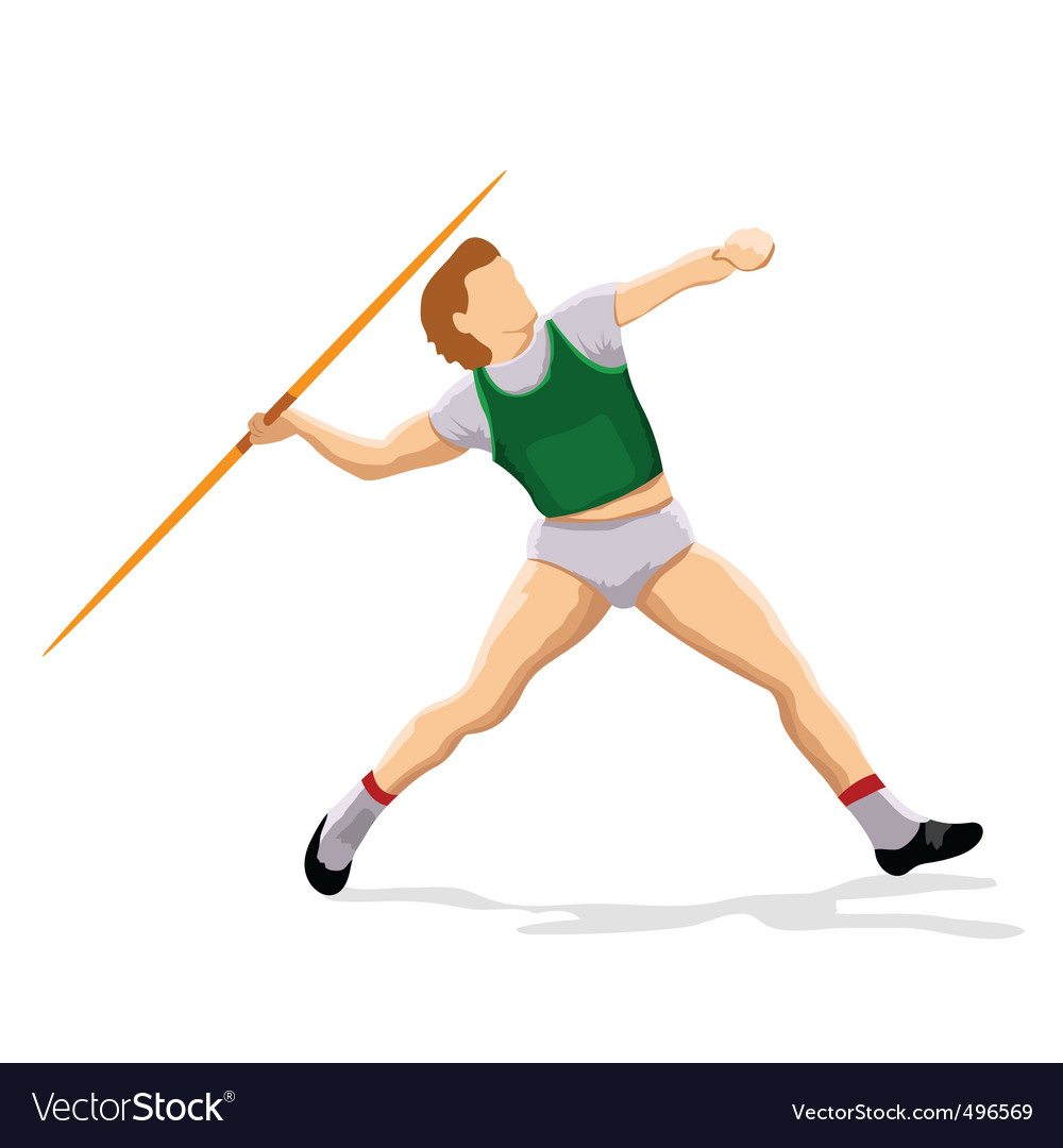 Javelin player vector | Price: 1 Credit (USD $1)