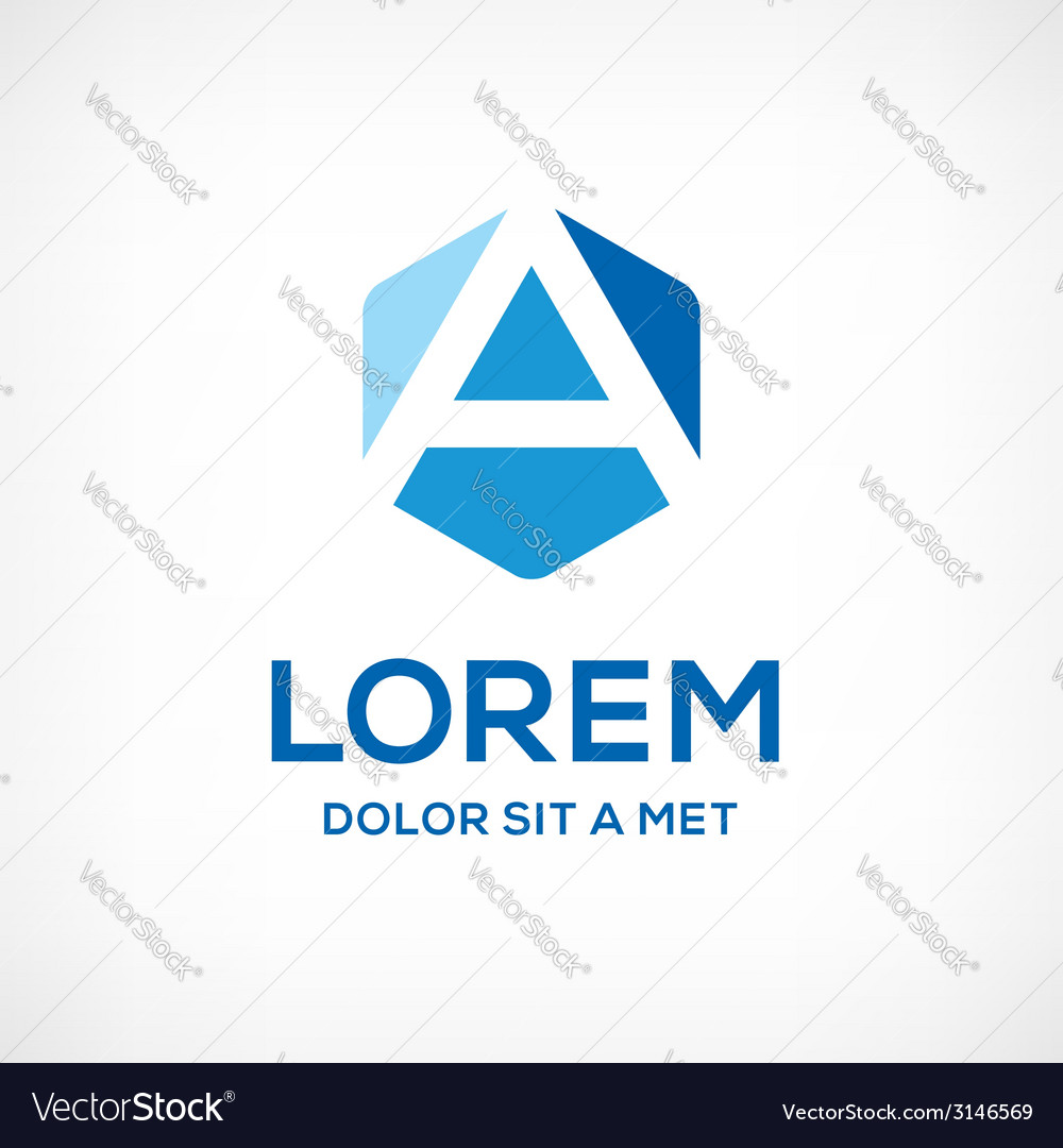 Letter a logo icon color sign vector | Price: 1 Credit (USD $1)
