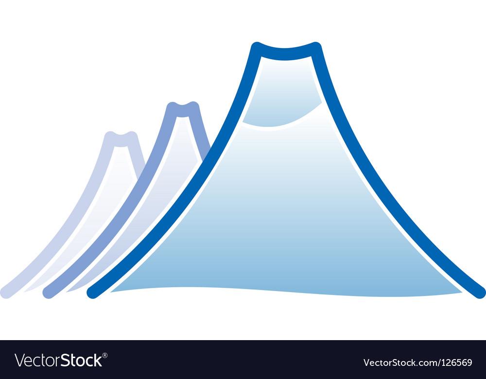 Mountain icon vector | Price: 1 Credit (USD $1)