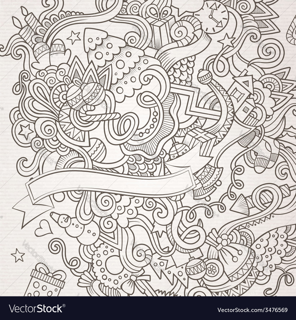 New year sketch background vector | Price: 1 Credit (USD $1)