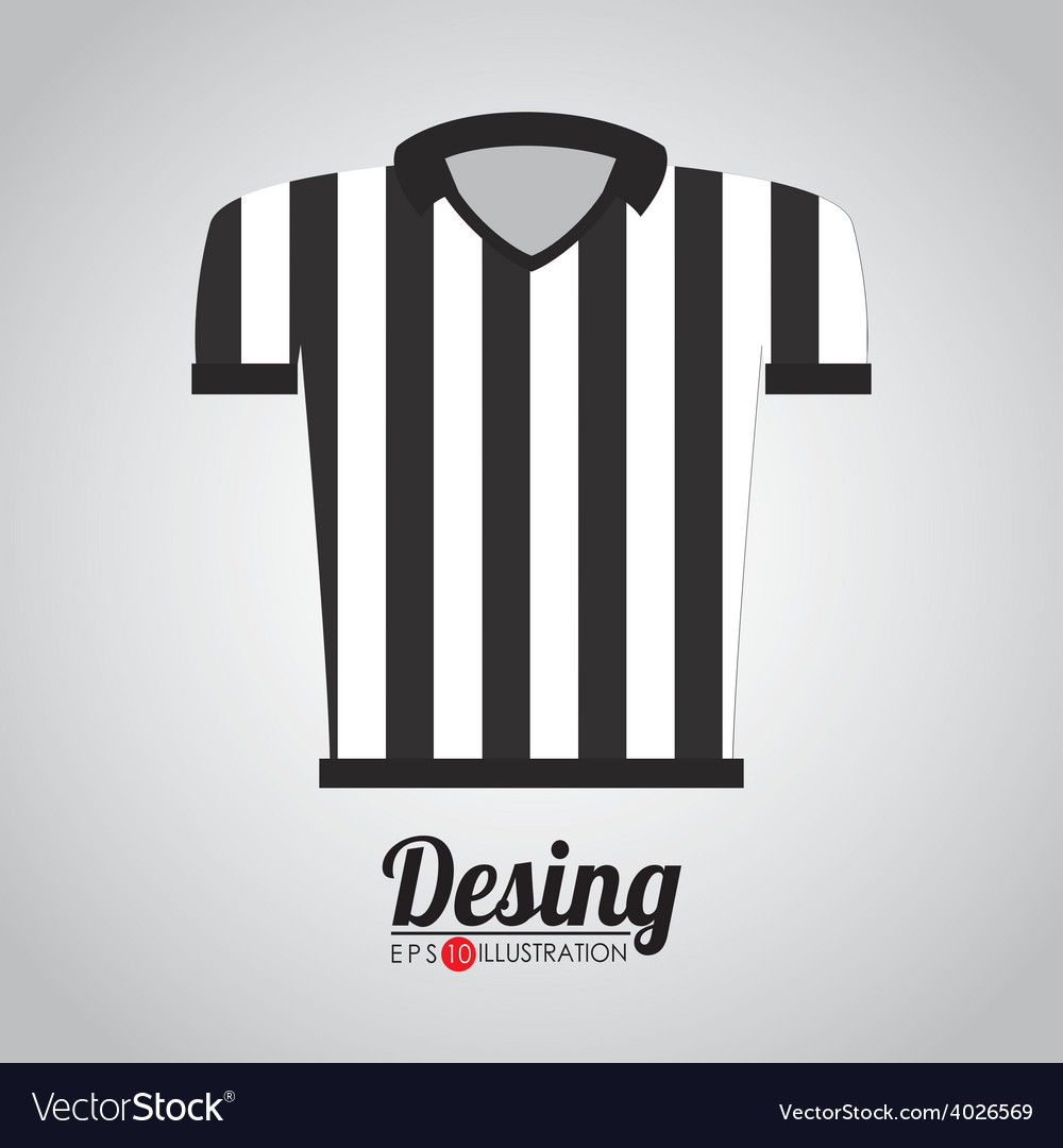 Referee shirt vector | Price: 1 Credit (USD $1)