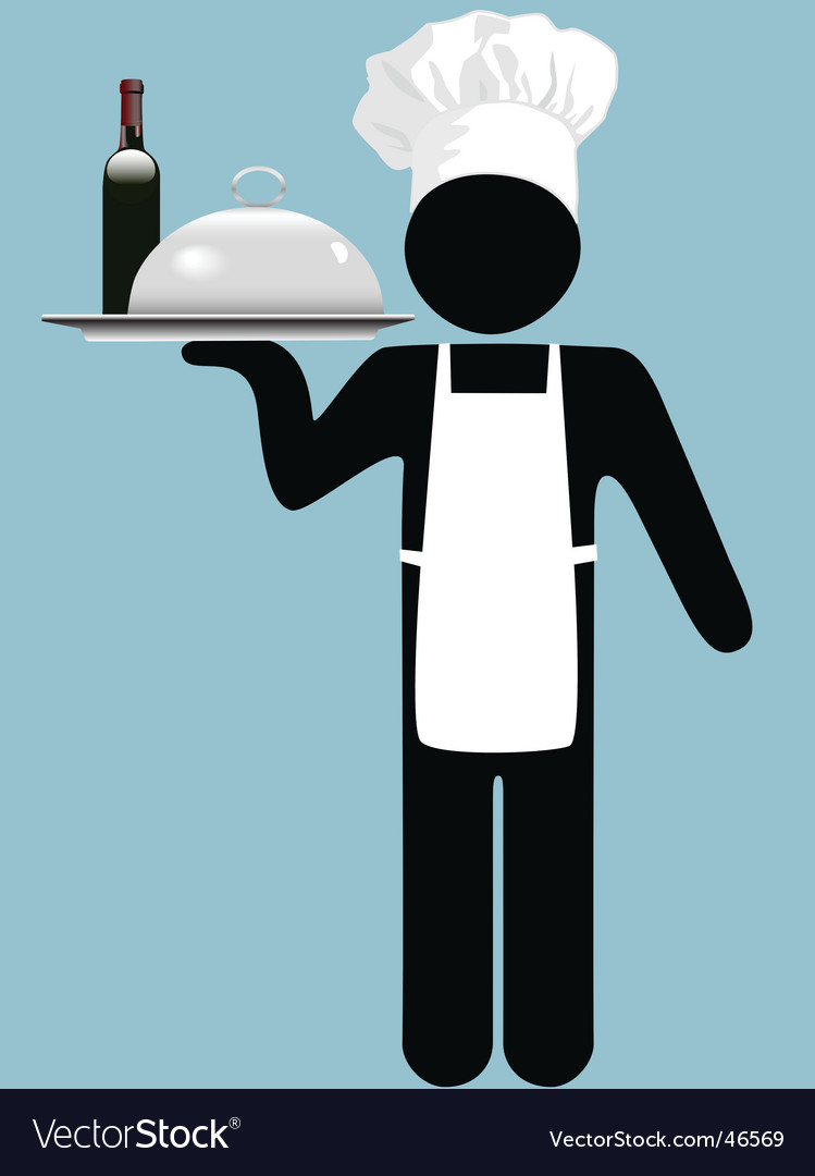 Restaurant waiter vector | Price: 1 Credit (USD $1)