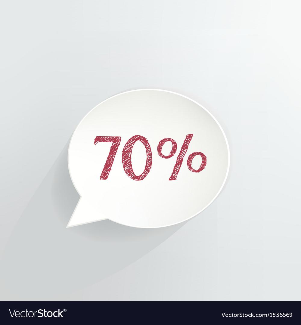 Seventy percent discount vector | Price: 1 Credit (USD $1)