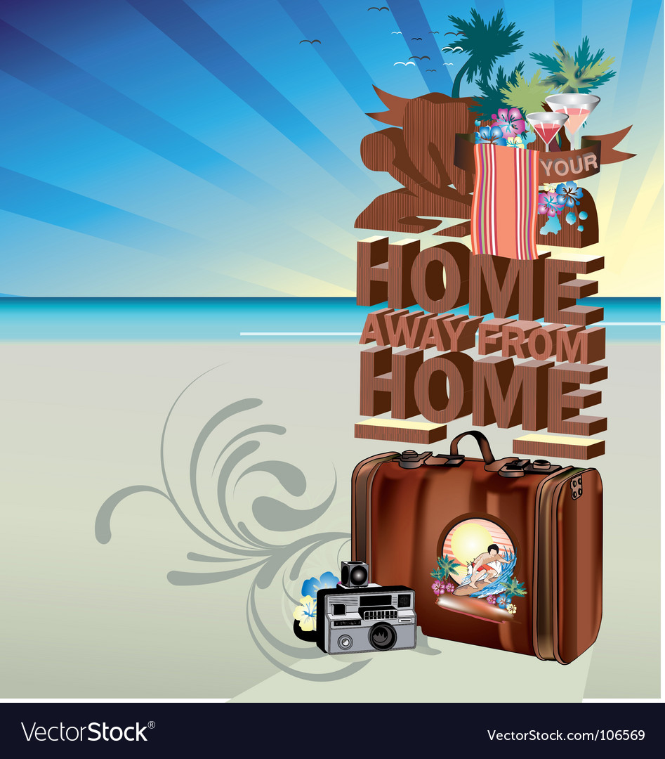 Summer postcard vector | Price: 1 Credit (USD $1)