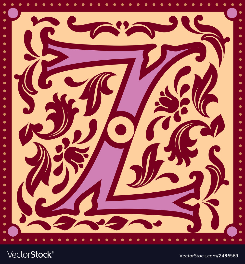 Vintage letter z vector | Price: 1 Credit (USD $1)