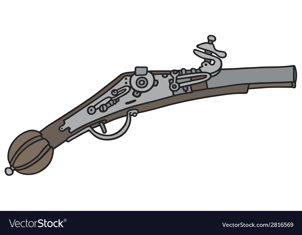 Vintage pistol vector | Price: 1 Credit (USD $1)