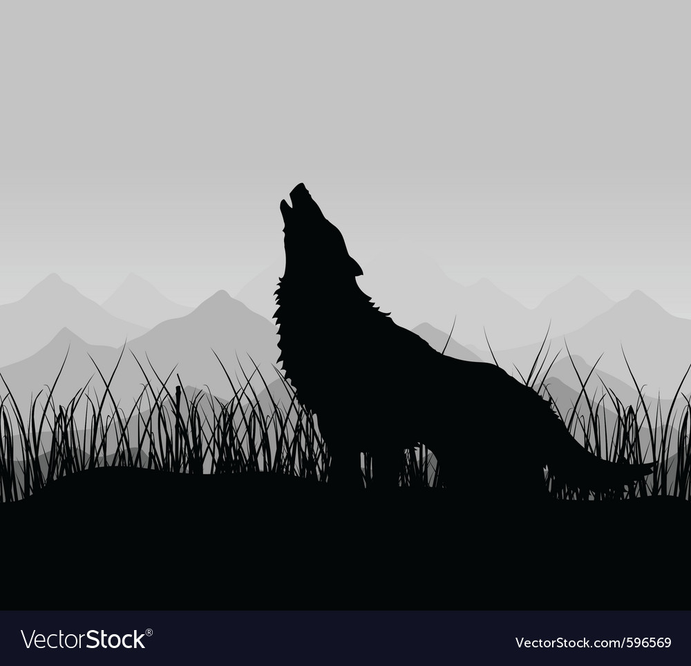 Wolf howls vector | Price: 1 Credit (USD $1)