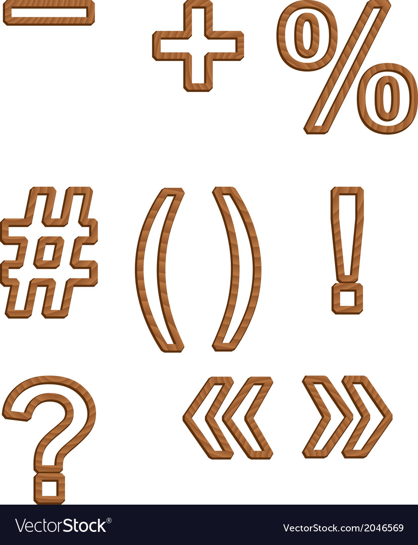 Woodfont vector | Price: 1 Credit (USD $1)