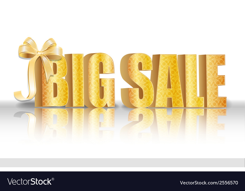 3d big sale made of pure beautiful luxury gold vector   Price: 1 Credit (USD $1)