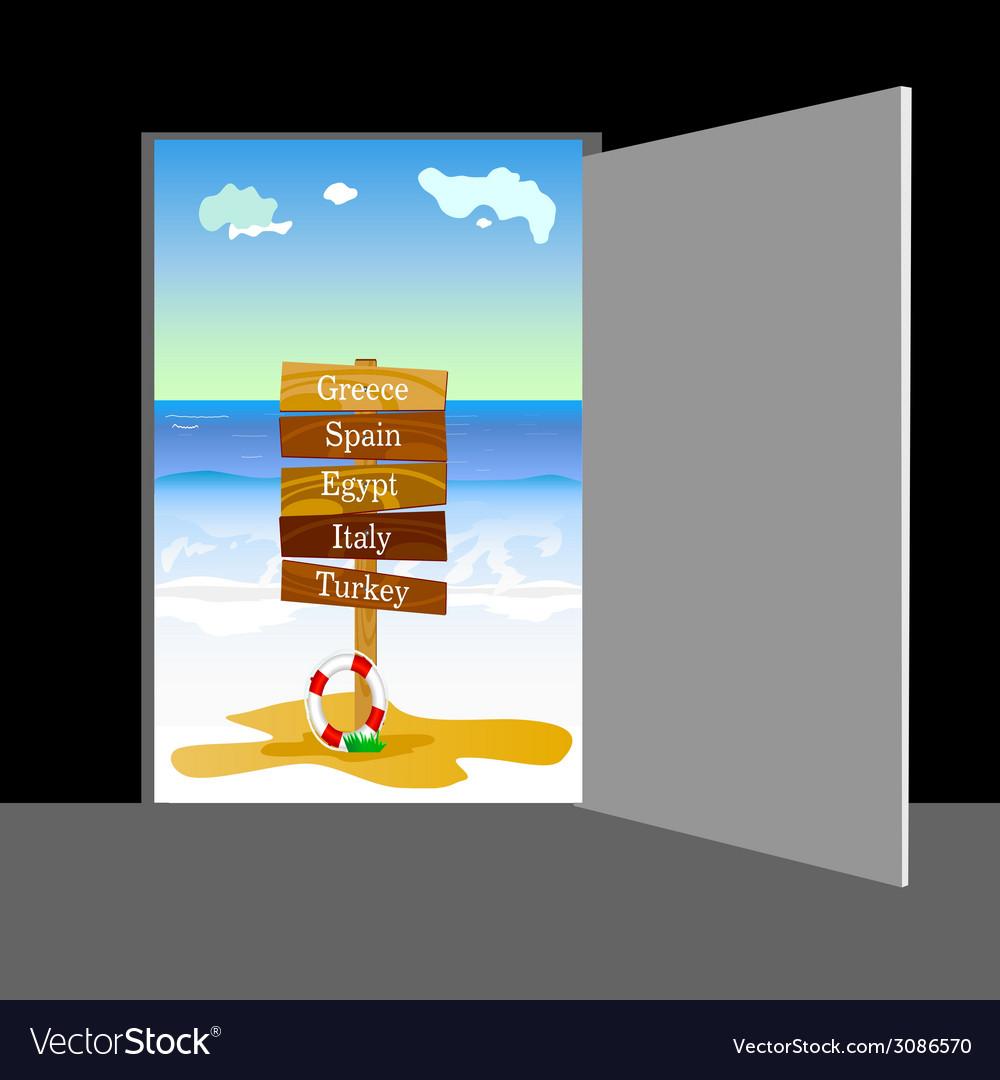 Beach behind the door part two vector   Price: 1 Credit (USD $1)