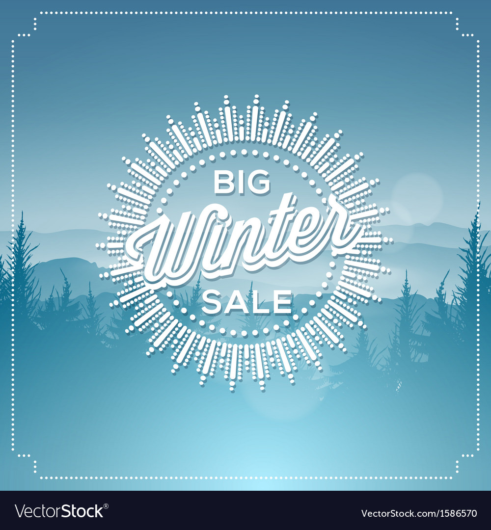 Big winter sale poster vector
