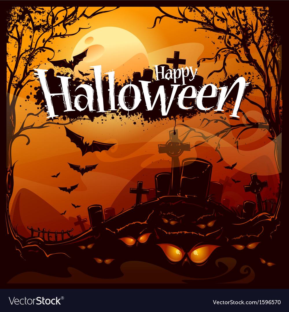 Cartoon halloween background vector | Price: 1 Credit (USD $1)
