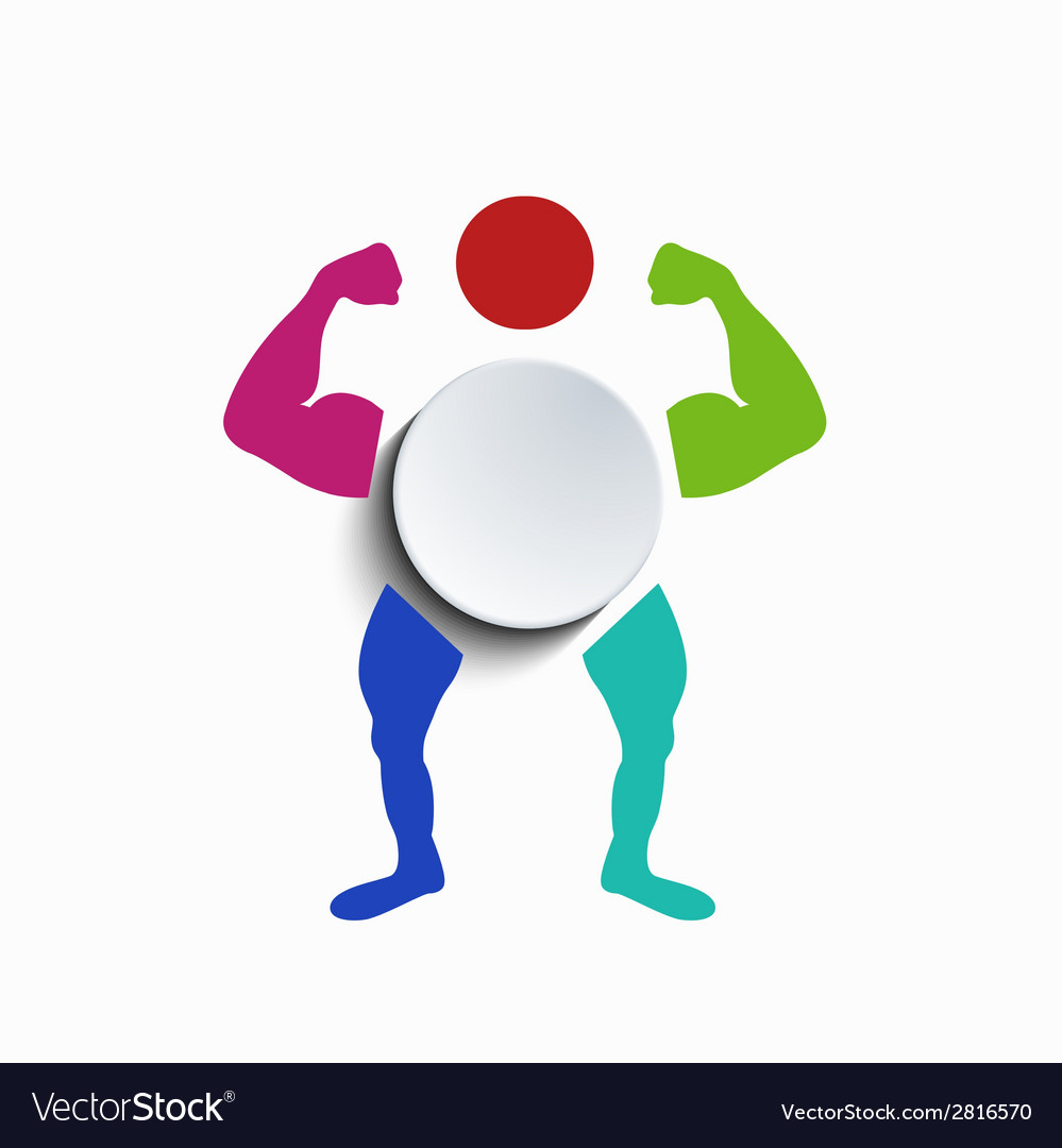 Concept muscle body vector | Price: 1 Credit (USD $1)