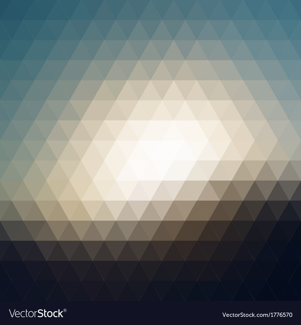 Digital triangle pixel mosaic vector | Price: 1 Credit (USD $1)