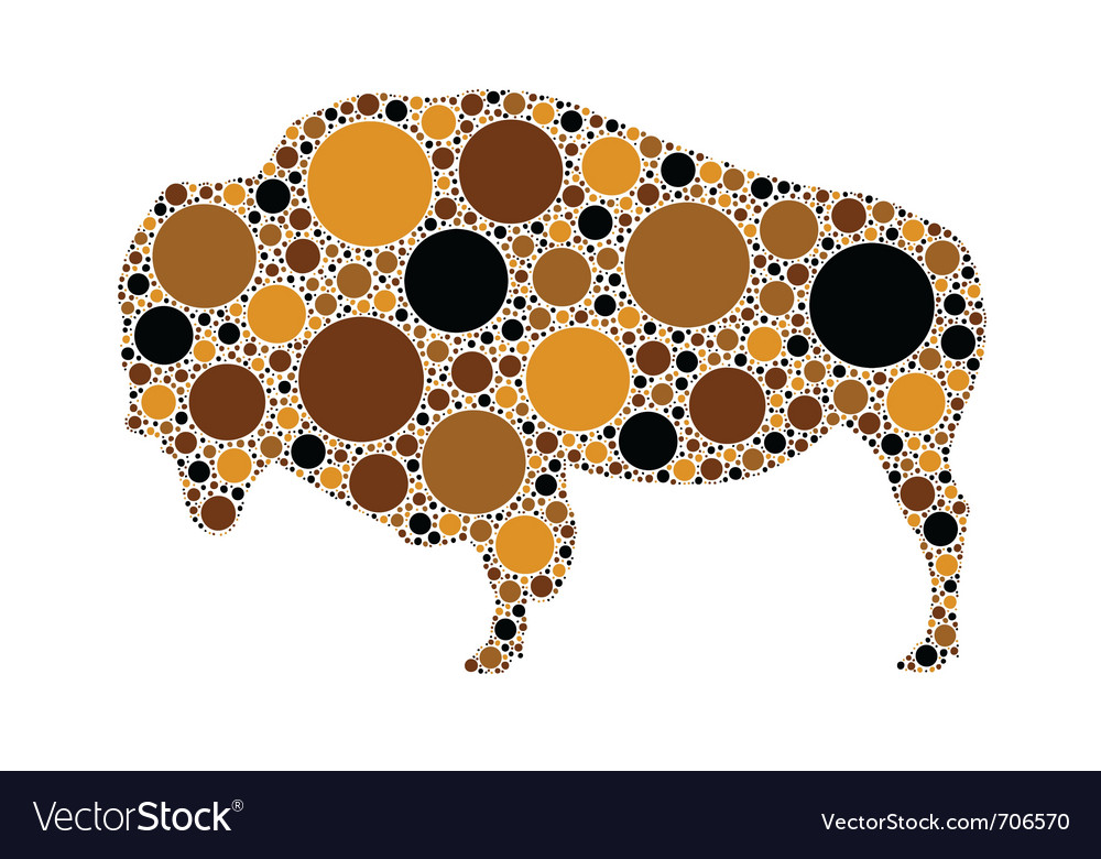 Dotted of buffalo vector | Price: 1 Credit (USD $1)