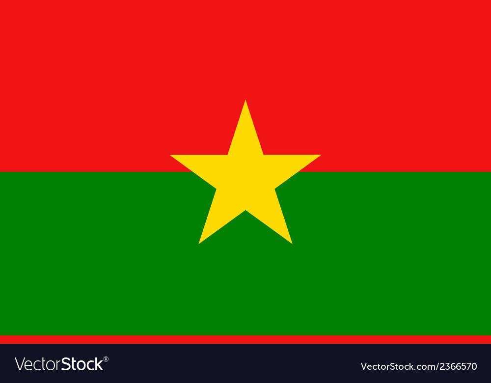 Flag of burkina faso vector | Price: 1 Credit (USD $1)