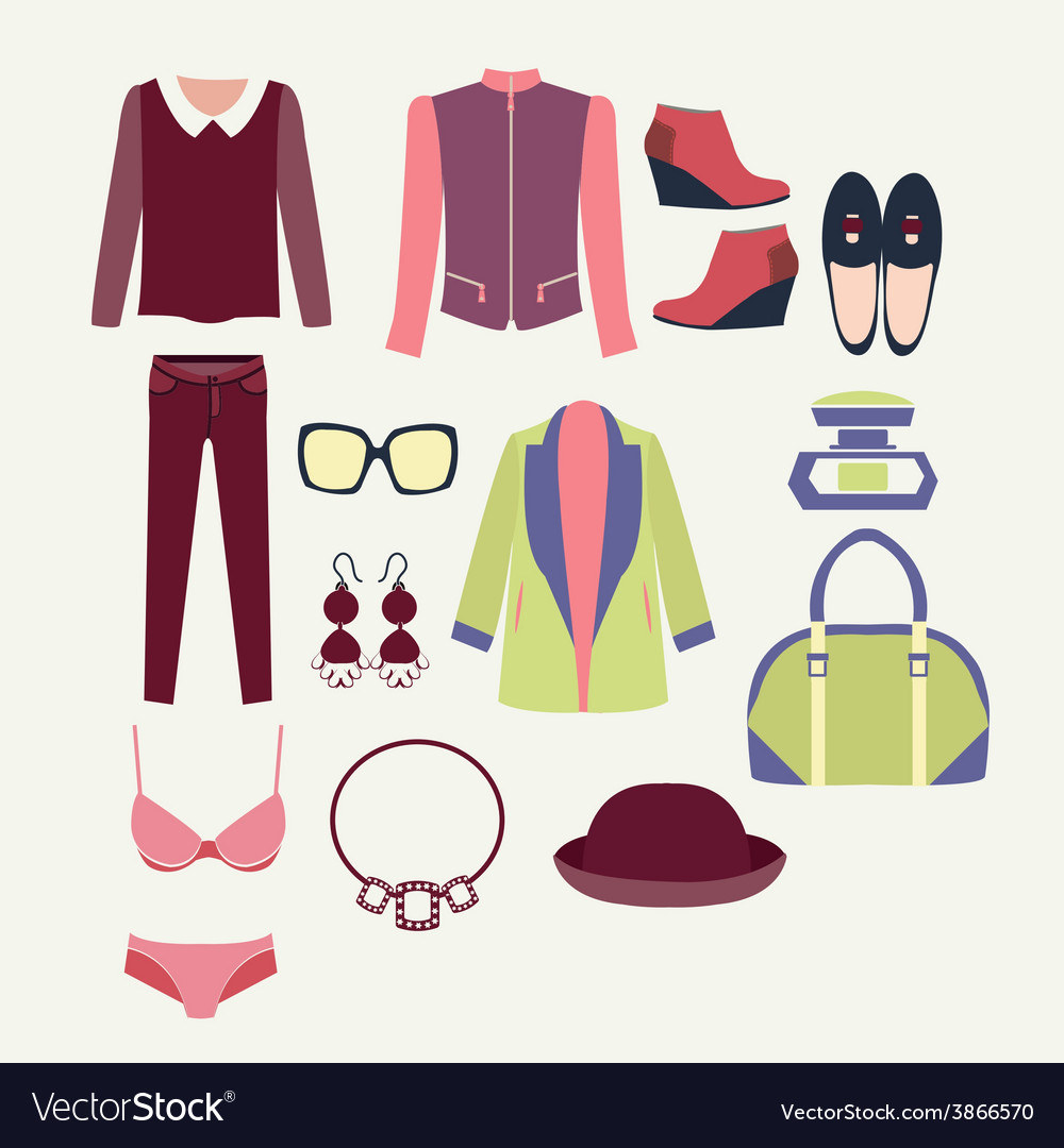 Flat clothes icon fashion clothes vector | Price: 1 Credit (USD $1)