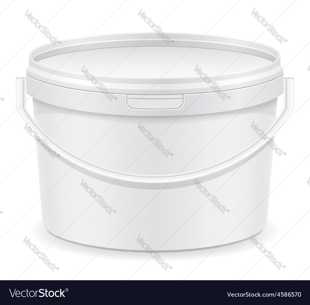 Plastic bucket for paint 02 vector | Price: 1 Credit (USD $1)