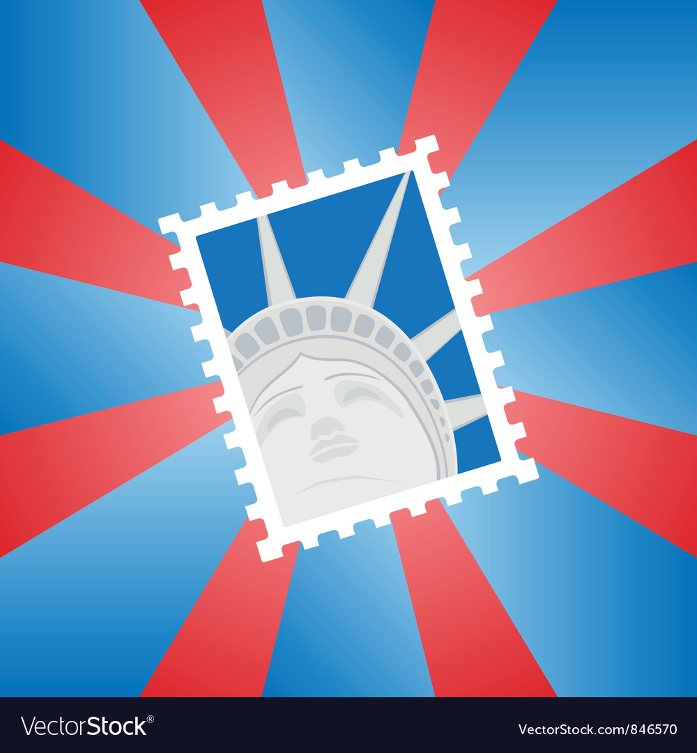 Postage stamp vector | Price: 1 Credit (USD $1)