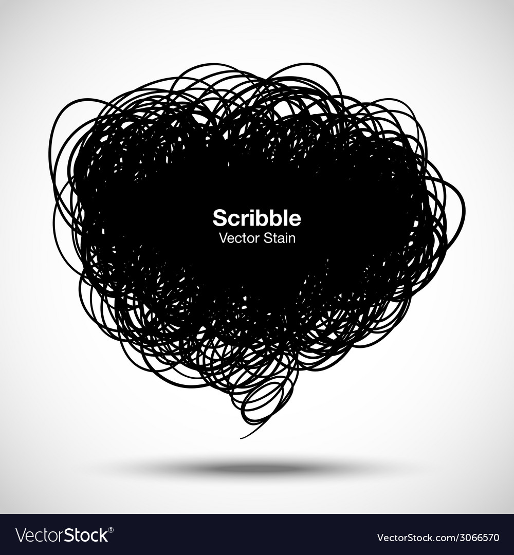 Scribble black bubble for your design vector | Price: 1 Credit (USD $1)