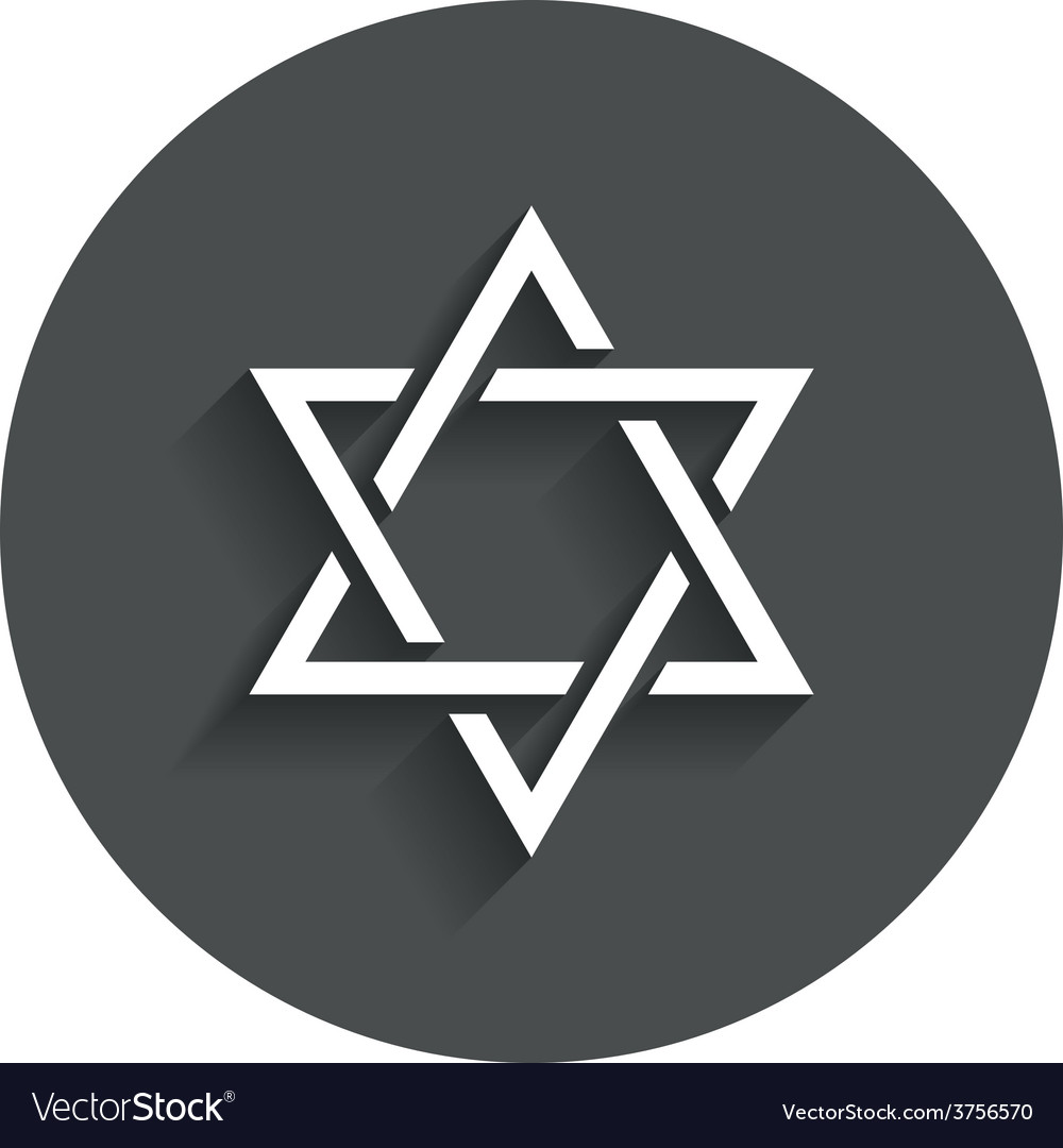 Star of david sign icon symbol of israel vector | Price: 1 Credit (USD $1)