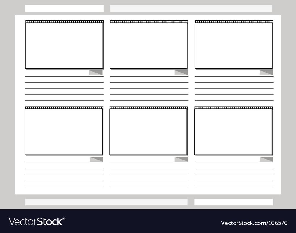 Storyboard vector | Price: 1 Credit (USD $1)