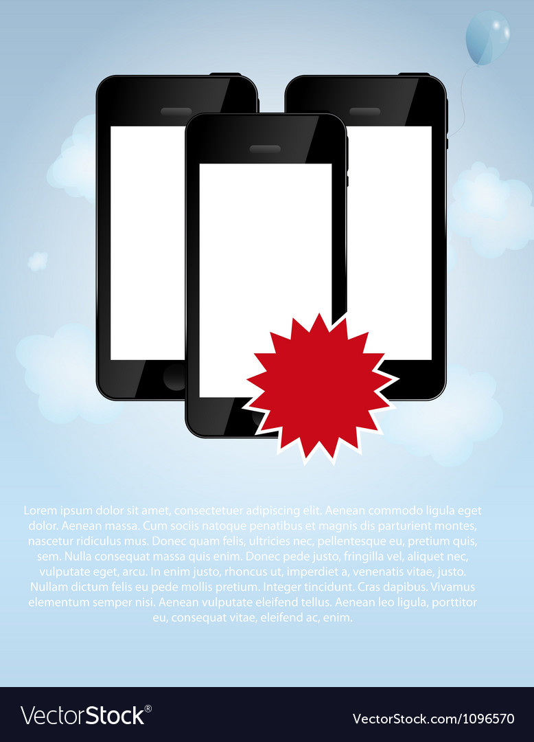 Template for smart phone and mobile phone company vector | Price: 1 Credit (USD $1)