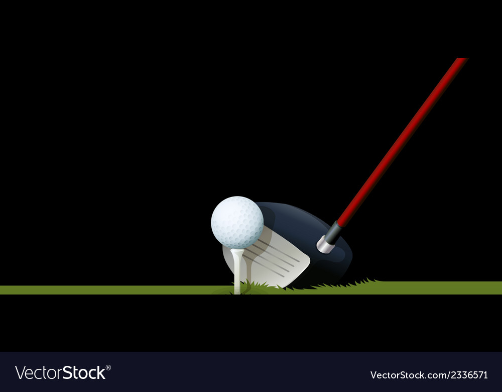 A club and a ball vector | Price: 1 Credit (USD $1)