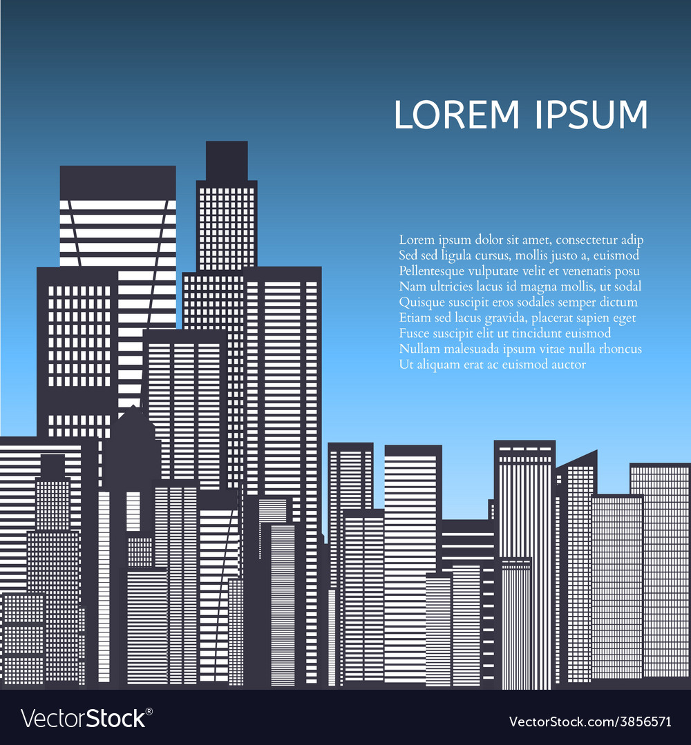 Abstract skyline city vector | Price: 1 Credit (USD $1)