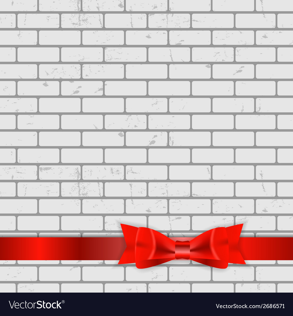 Background of brick wall texture with bow and vector   Price: 1 Credit (USD $1)