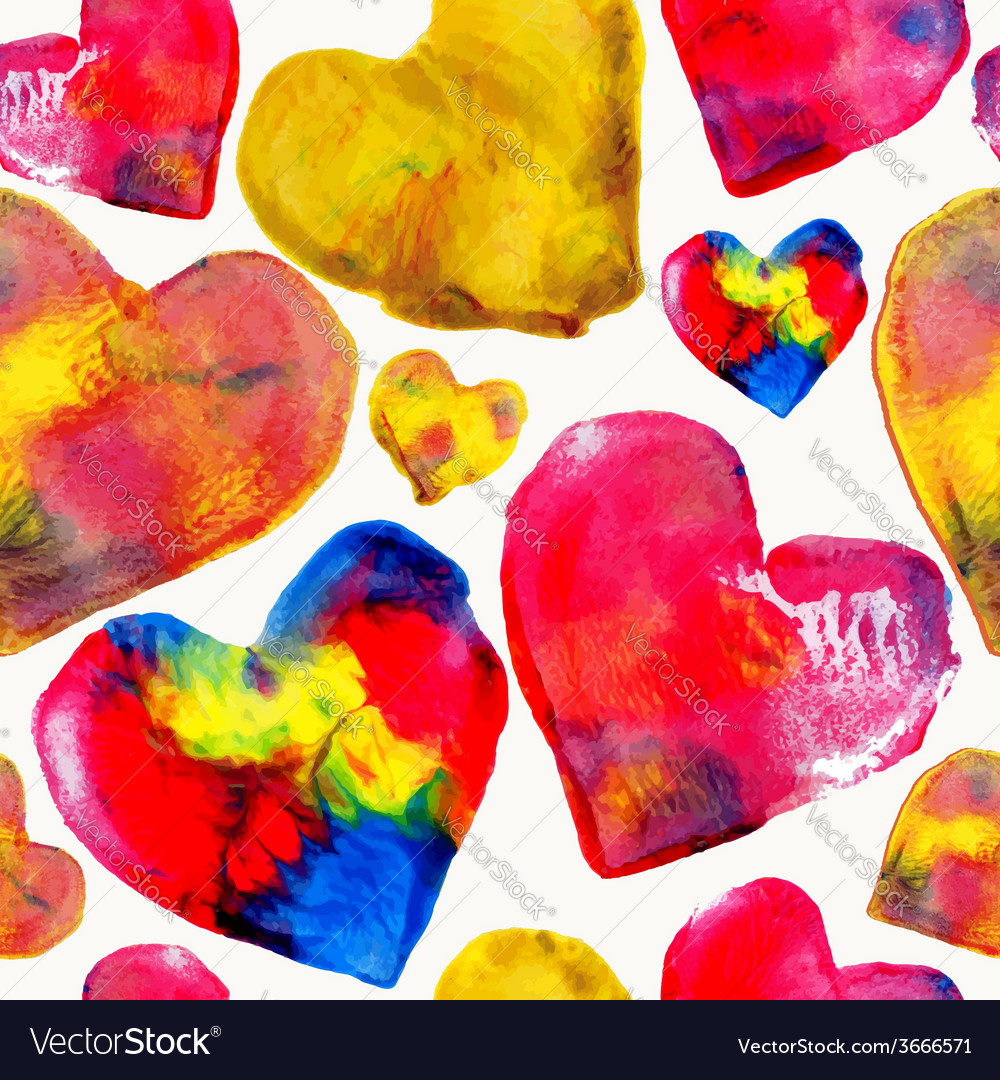 Colorful heart love pattern background vector | Price: 1 Credit (USD $1)