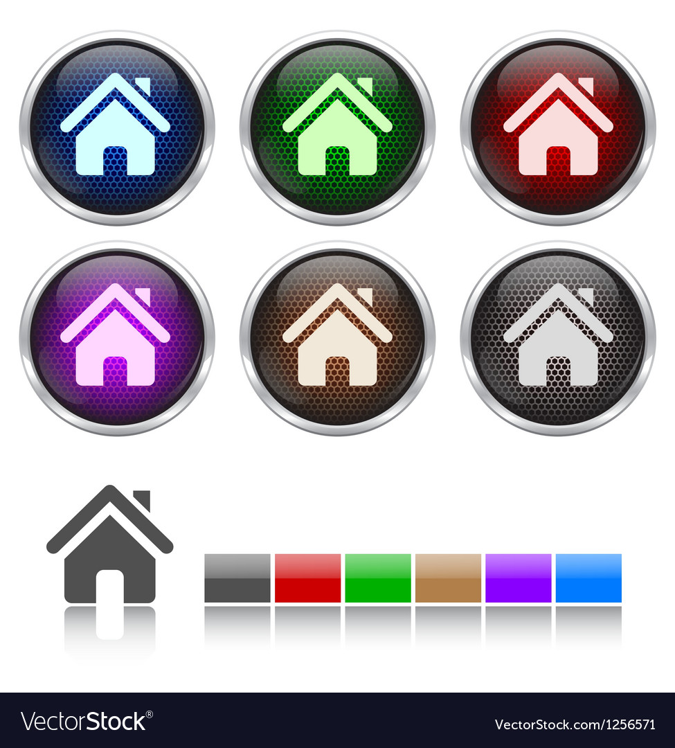 Colorful honeycomb home icon vector | Price: 1 Credit (USD $1)