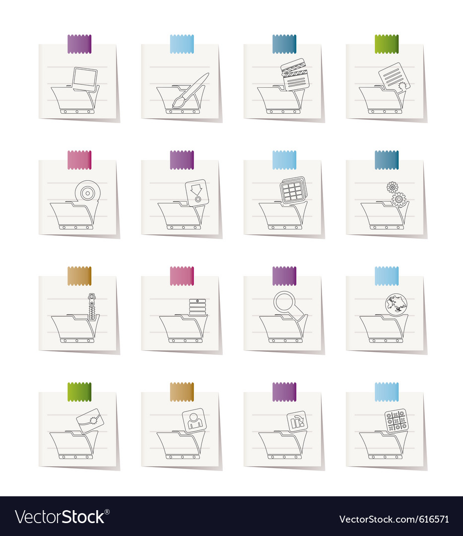 Computer and phone icons - folders vector | Price: 1 Credit (USD $1)