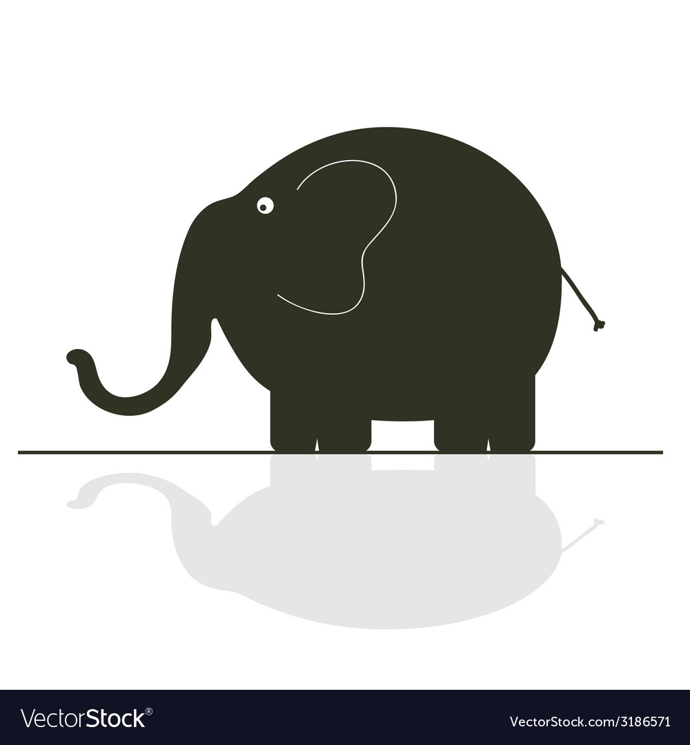 Elephant color vector | Price: 1 Credit (USD $1)