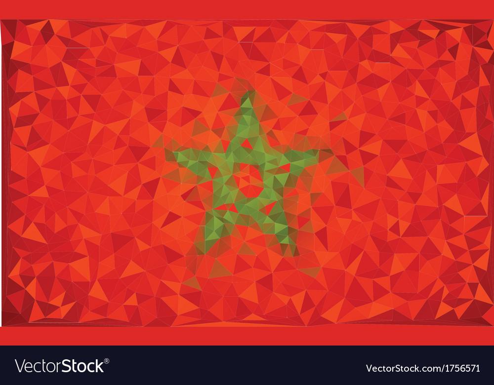 Flag morocco grunge mosaic geometric pattern vector | Price: 1 Credit (USD $1)