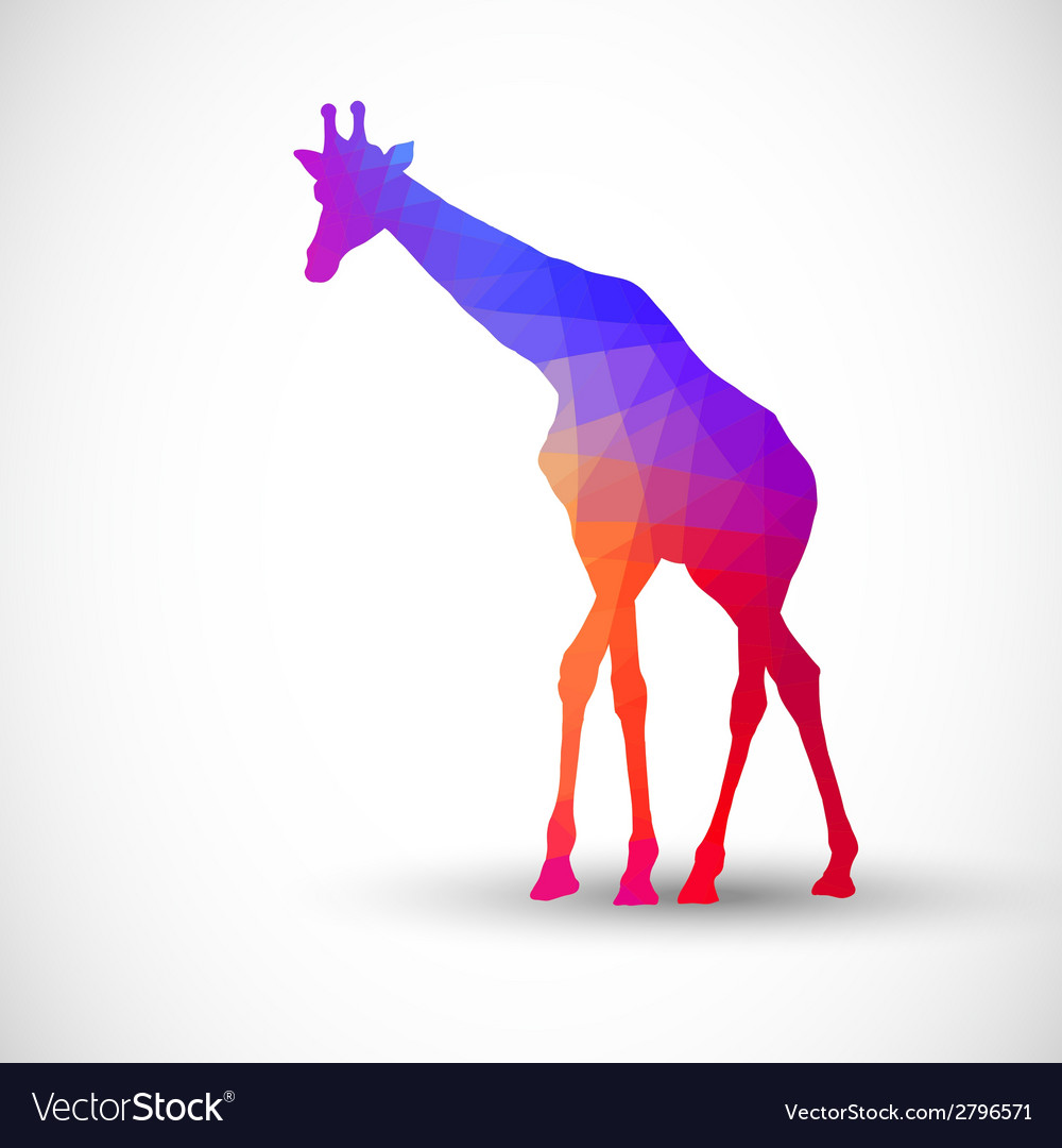 Geometric silhouettes animals giraffe vector | Price: 1 Credit (USD $1)