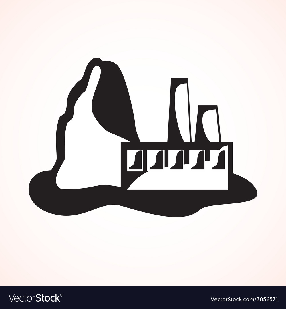Industrial plant vector | Price: 1 Credit (USD $1)