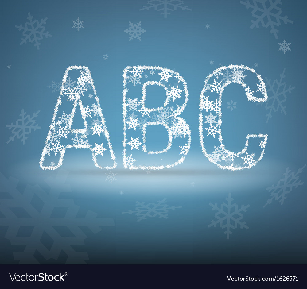 Letters made from snowflakes vector | Price: 1 Credit (USD $1)