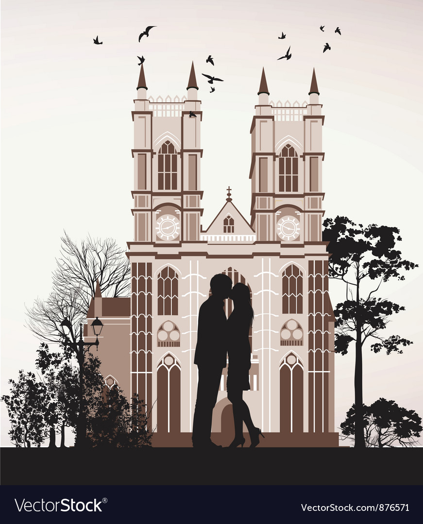 Man kissing woman vector | Price: 1 Credit (USD $1)