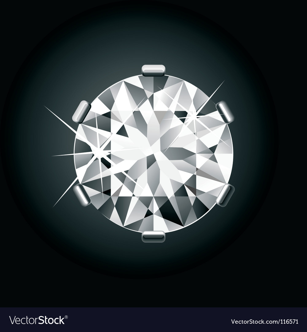 Round diamond vector | Price: 1 Credit (USD $1)