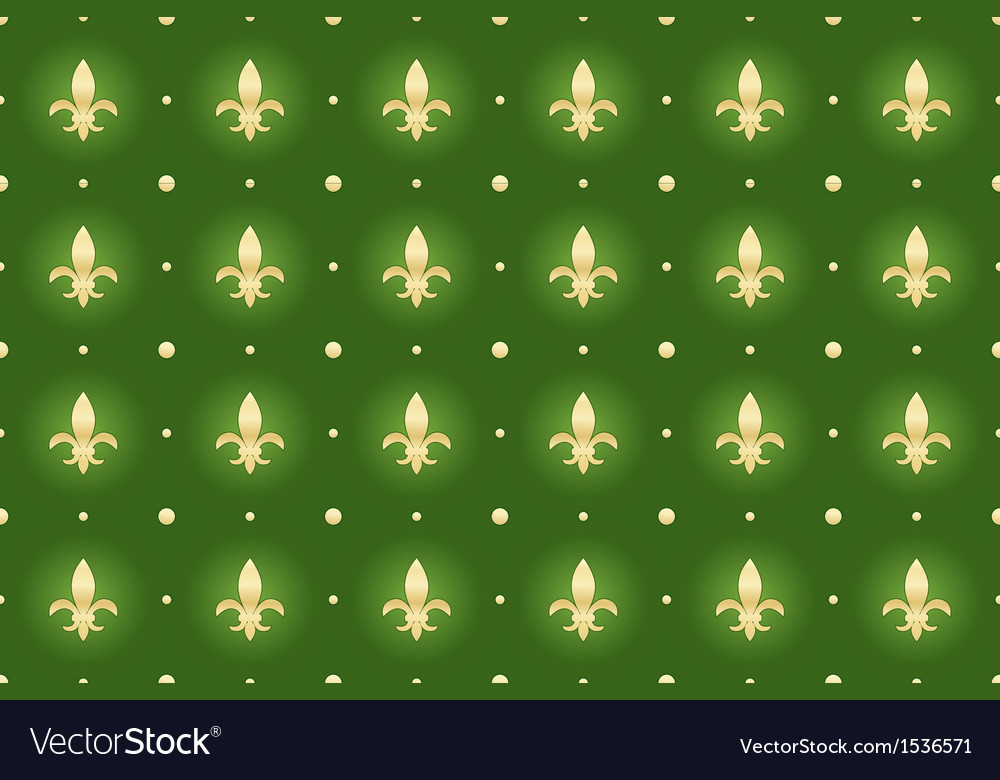 Seamless background with royal lilies vector | Price: 1 Credit (USD $1)