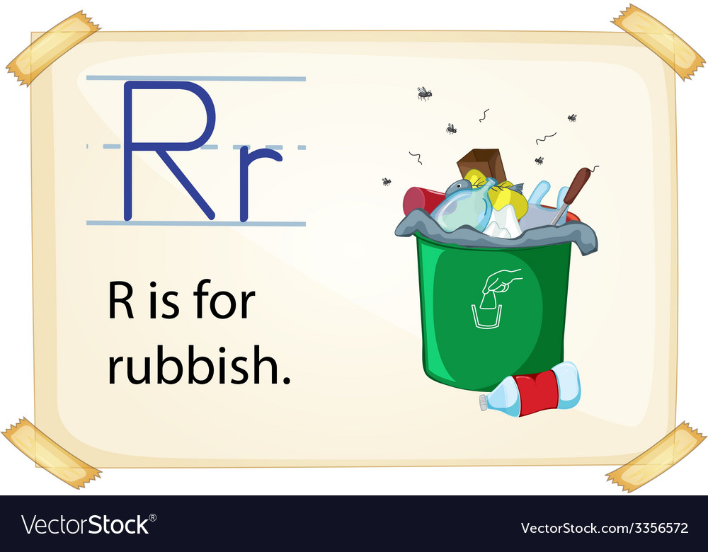 A letter r for rubbish vector | Price: 3 Credit (USD $3)