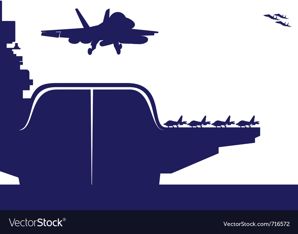Aircraft carrier vector | Price: 1 Credit (USD $1)